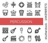 Set Of Percussion Icons Such A...