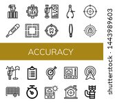 set of accuracy icons such as... | Shutterstock .eps vector #1443989603