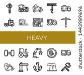 set of heavy icons such as axe  ... | Shutterstock .eps vector #1443989696
