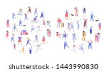 crowd of people arranged in... | Shutterstock .eps vector #1443990830