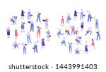 business people arranged in... | Shutterstock .eps vector #1443991403