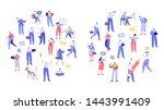 business people arranged in...   Shutterstock .eps vector #1443991409
