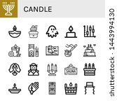 set of candle icons such as... | Shutterstock .eps vector #1443994130