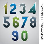 vector numbers  bold numerals ... | Shutterstock .eps vector #144399628