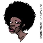 afro hair. vector drawing of...   Shutterstock .eps vector #144399670