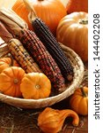 Pumpkins And Indian Corn...