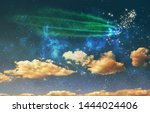 night sky background with stars ... | Shutterstock . vector #1444024406
