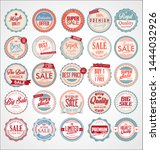set of retro vintage colorful... | Shutterstock . vector #1444032926