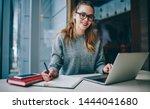 portrait of happy skilled... | Shutterstock . vector #1444041680