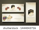 eid al adha and hajj mabrour... | Shutterstock .eps vector #1444043726