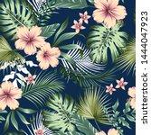 vector seamless botanical... | Shutterstock .eps vector #1444047923