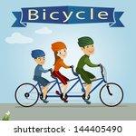 vector illustration of family... | Shutterstock .eps vector #144405490