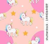 unicorn vector pattern graphic... | Shutterstock .eps vector #1444064489