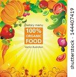 abstract elegance food design.... | Shutterstock .eps vector #144407419