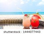 lychee and watermelon soda...   Shutterstock . vector #1444077443
