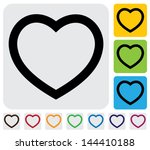 Human Heart Love  Icon Symbol ...