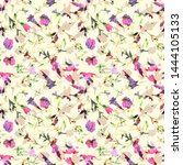 floral watercolor seamless... | Shutterstock . vector #1444105133