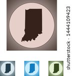 vector map of the indiana | Shutterstock .eps vector #1444109423