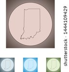 vector map of the indiana | Shutterstock .eps vector #1444109429