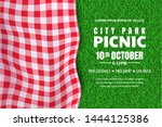 picnic horizontal background.... | Shutterstock .eps vector #1444125386