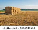 Large Stubble Field With...