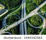 aerial view of highway and... | Shutterstock . vector #1444142363
