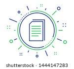 copy documents line icon....