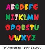kids alphabet design for all... | Shutterstock .eps vector #1444151990