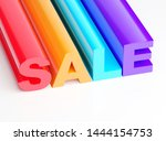 sale colorful text design 3d... | Shutterstock . vector #1444154753