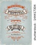 grunge festival invitation... | Shutterstock .eps vector #144417304