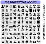 universal icons | Shutterstock .eps vector #144418330
