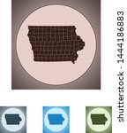 vector map of the iowa | Shutterstock .eps vector #1444186883
