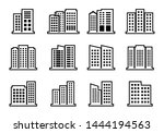 line company icons set on white ...   Shutterstock .eps vector #1444194563