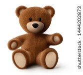 Brown Sitting Teddy Bear   3d...