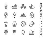 dessert insimple outline icon... | Shutterstock .eps vector #1444206593