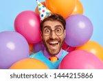 Happy Funny Man Celebrates...