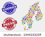assemble scandinavia map and... | Shutterstock .eps vector #1444233239