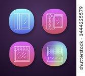 window treatments app icons set....