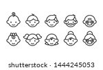 icon set of different age... | Shutterstock .eps vector #1444245053