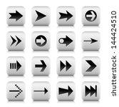 16 arrow sign gray icon  set 02 ...
