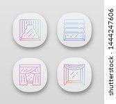 window drapes app icons set....