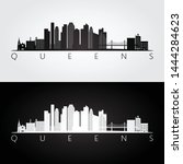 queens  new york usa skyline... | Shutterstock .eps vector #1444284623