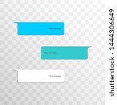 group of objects variation chat ... | Shutterstock .eps vector #1444306649
