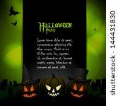 halloween background template... | Shutterstock .eps vector #144431830