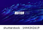 particle with trails. flowing... | Shutterstock .eps vector #1444342619