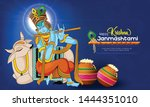 illustration of janmashtami ... | Shutterstock .eps vector #1444351010