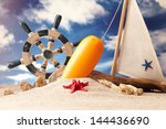 holiday  summer  beach.  | Shutterstock . vector #144436690