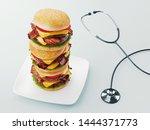 Hamburger. Fast Food Diet...