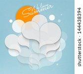abstract 3d speech bubble design | Shutterstock .eps vector #144438394