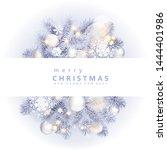 christmas border with white... | Shutterstock .eps vector #1444401986